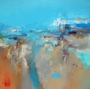 low tide - acrylic on board-John Paul Cooke