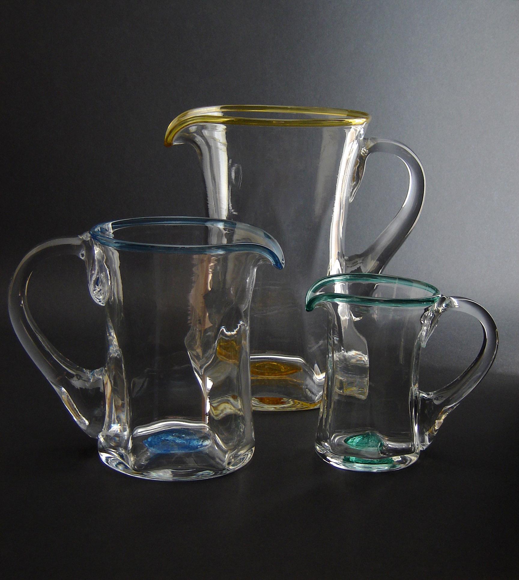 Sark Glass Tim Casey jugs