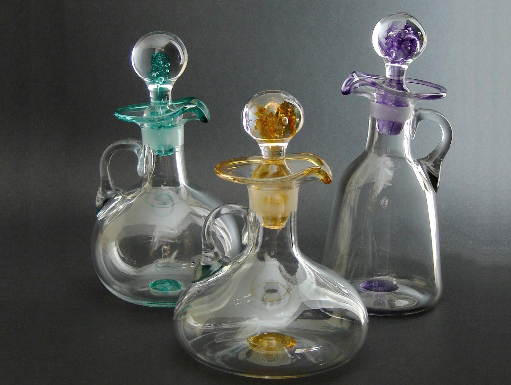 Sark Glass Tim Casey oil bottles