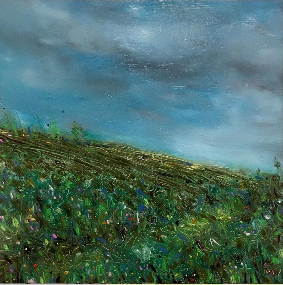 Rowena Scotney Guval field after the rain oils