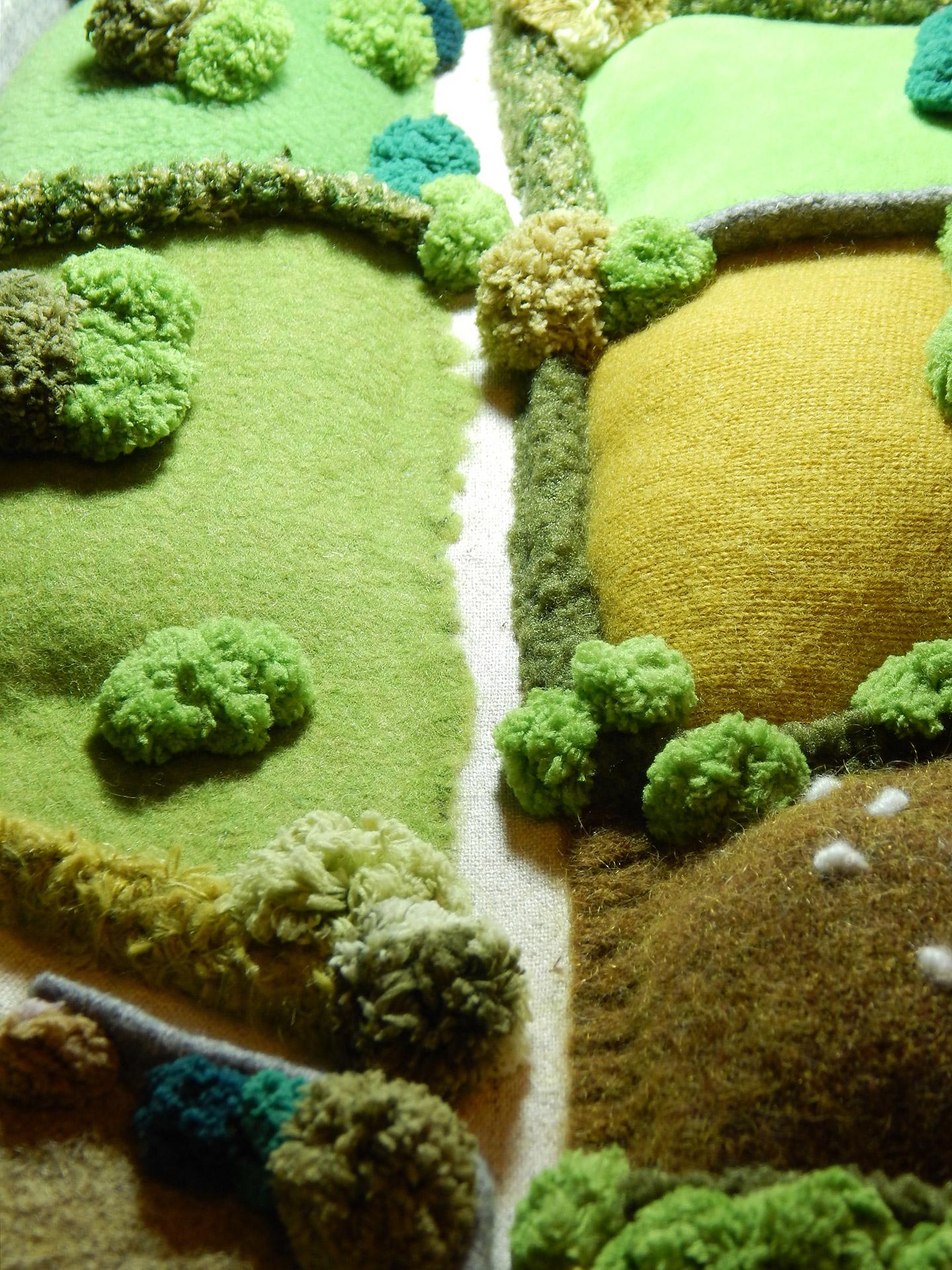 Chris Cullen Art Work Felt Landscape