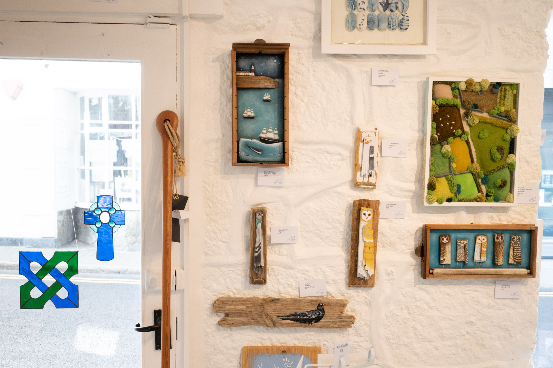 Blue Bramble Gallery St Ives hanging wall