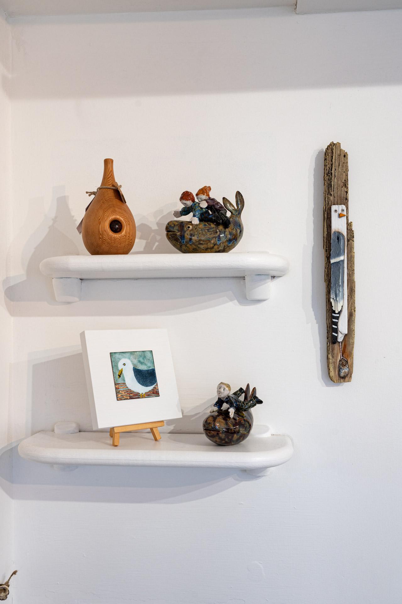 Blue Bramble Gallery St Ives art on the shelf 2